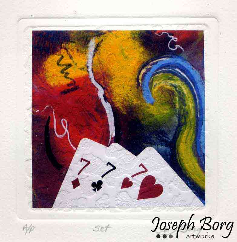 Mixed Media Poker Art Print - Set
