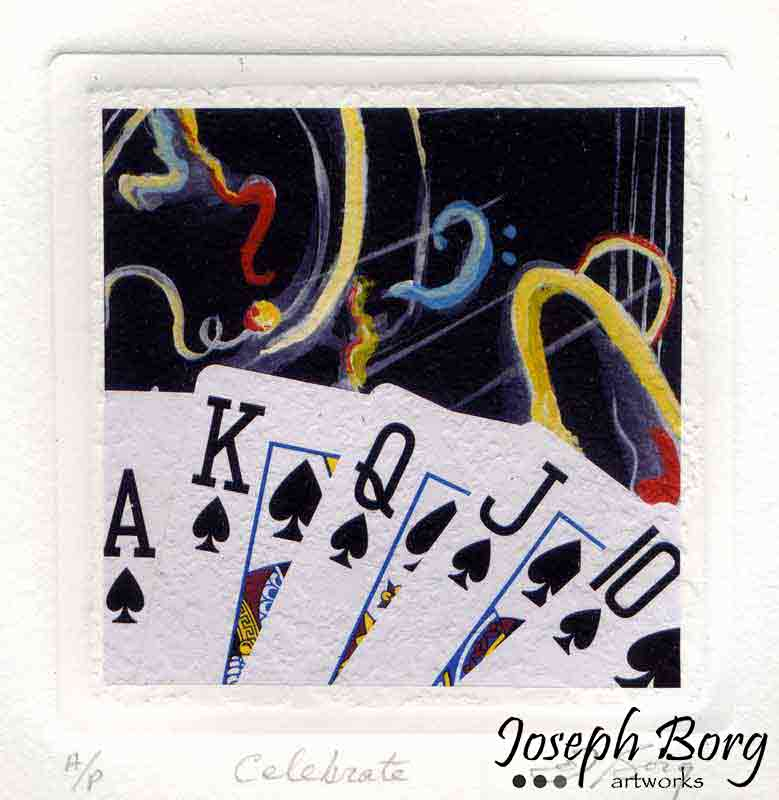 Mixed Media Poker Art Print - Celebrate