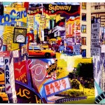 New York Broadway Collage Postcard III