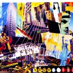 New York City Collage Postcard