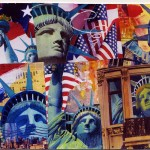 NYC Independence Collage Postcard